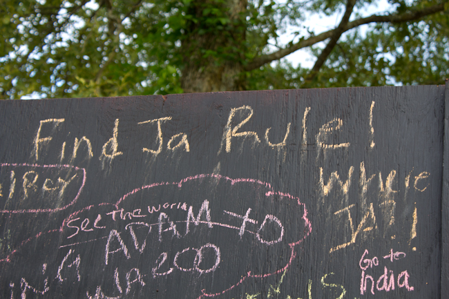 Bonnaroo 2013: Before I Die I Want To...Chalkboard Wall