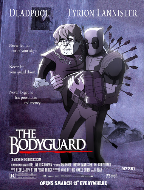 deadpool, tyrion lannister : the bodyguard mashup by Marco Dalfonso