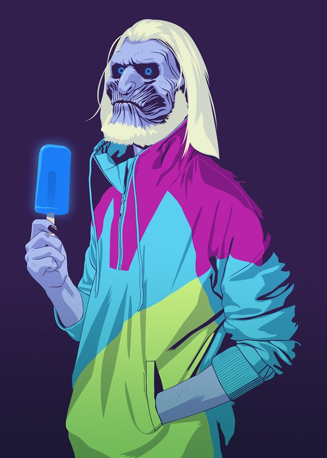 Game Of Thrones characters as 80s and 90s stereotypes by Mike Wrobel