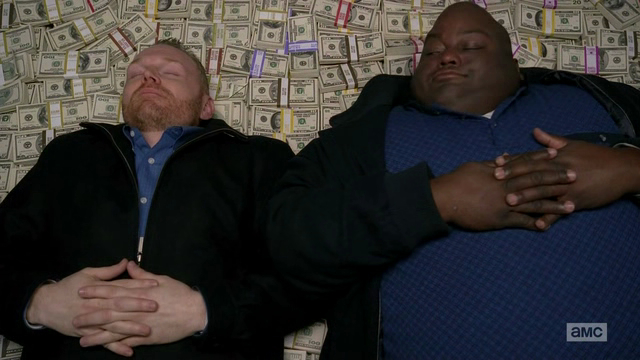 money pile breaking bad