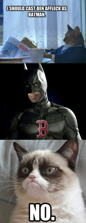 grumpy cat responds to Ben Affleck being cast as Batman
