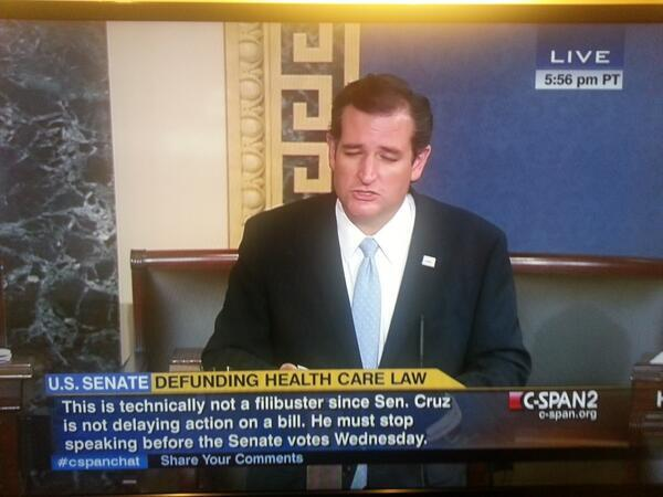 cruz not filibuster